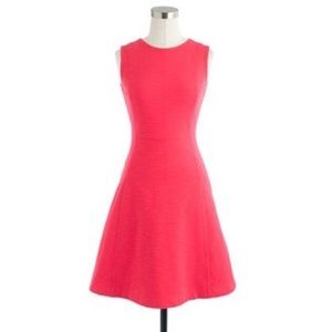 J. Crew Knit princess-seam coral dress size 2